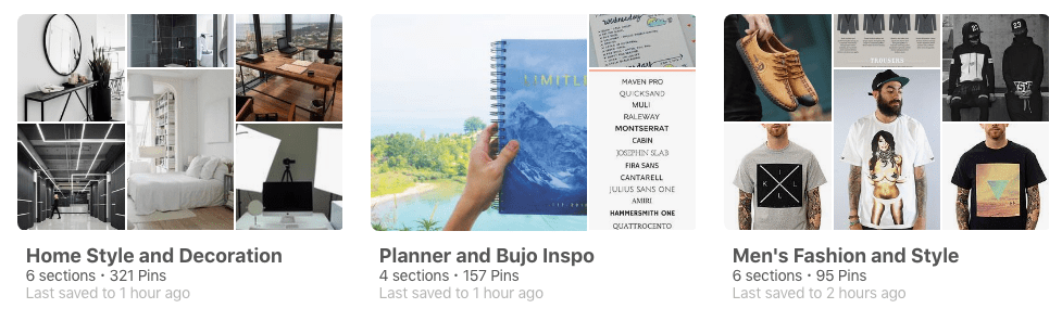 Some of Dylankyang's Pinterest Board that have driven traffic: Planner Inspo