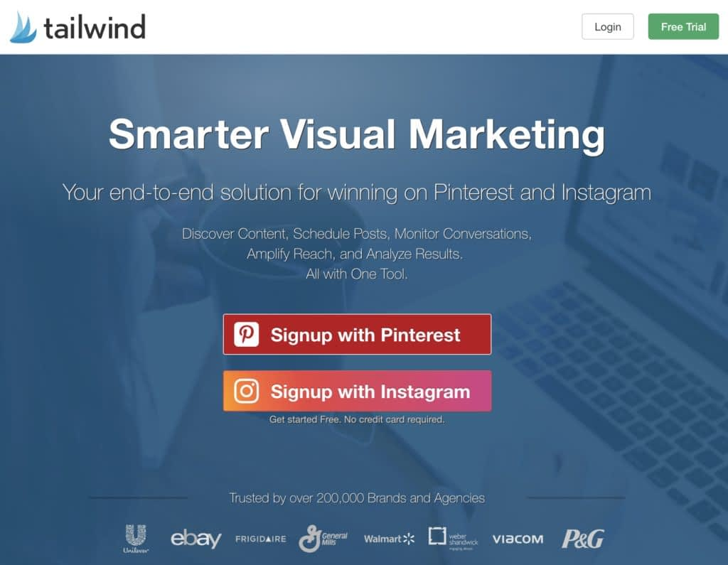 Sign up for a Tailwind Account